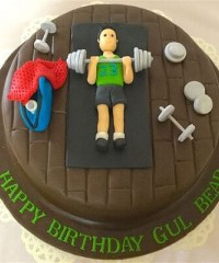 Fitness and Gym Theme Cakes